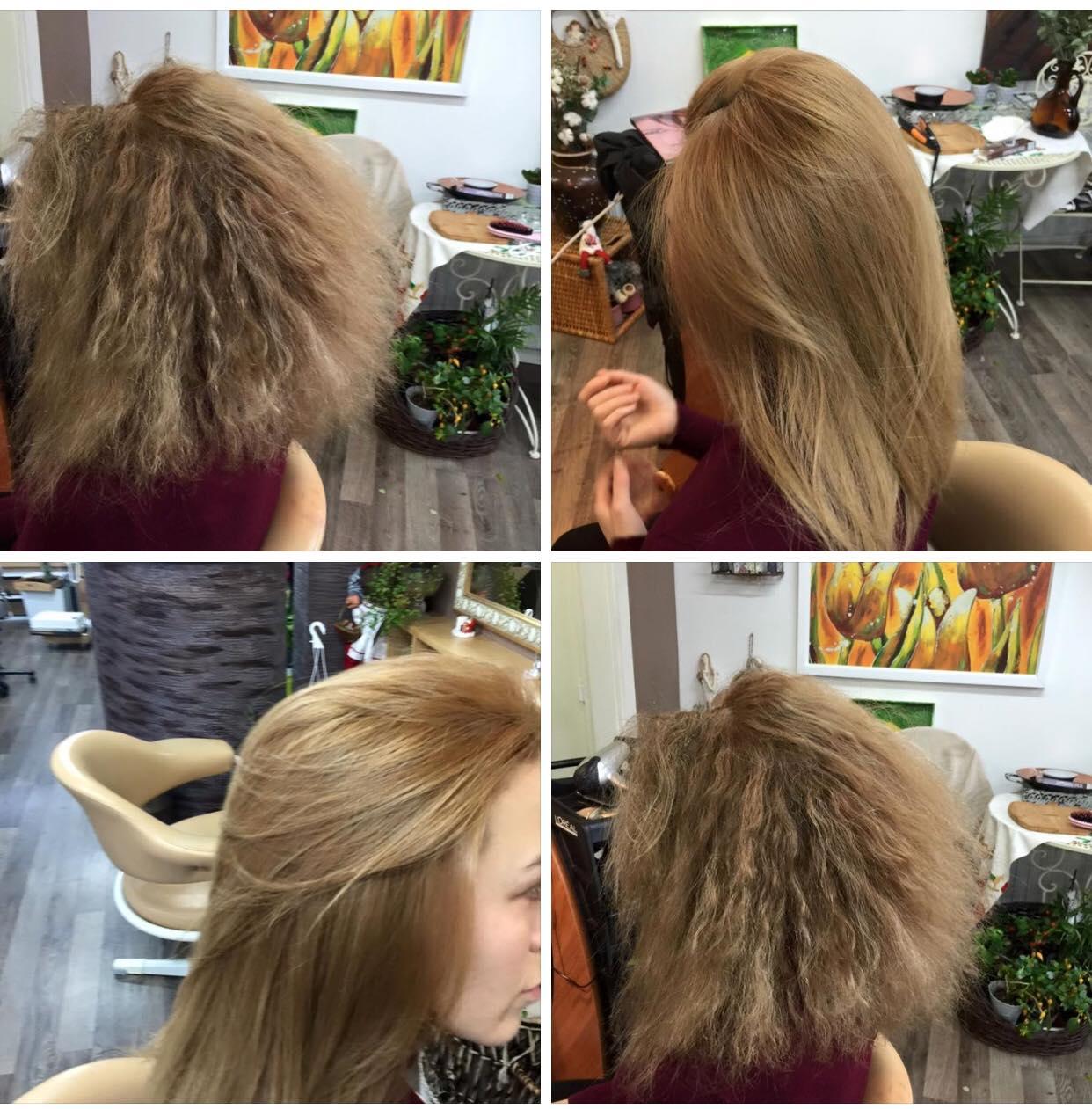 Kunder behandlet med Brasilian Blow Out udglatning af hår