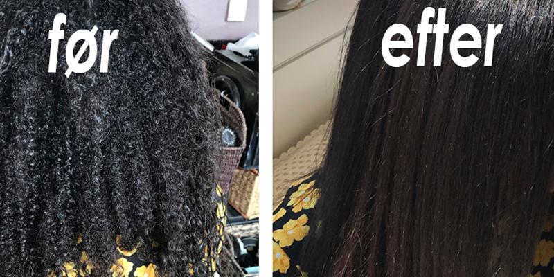 Permanent glat hår med effektiv hårkur