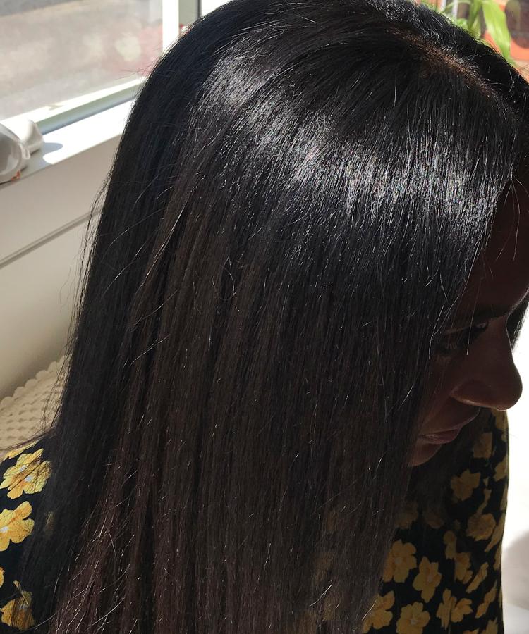 Permanent glat hår efter hårkur med Brazilian Blow Out